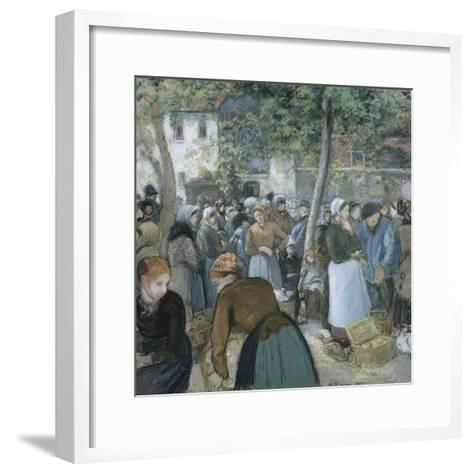Poultry Market, Gisors-Camille Pissarro-Framed Art Print