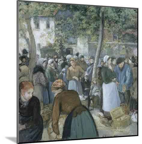 Poultry Market, Gisors-Camille Pissarro-Mounted Giclee Print