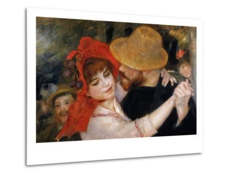 Detail of Dancing Couple from Le Bal a Bougival-Pierre-Auguste Renoir-Metal Print