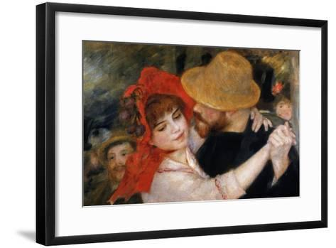 Detail of Dancing Couple from Le Bal a Bougival-Pierre-Auguste Renoir-Framed Art Print