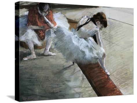 Dancers Resting-Edgar Degas-Stretched Canvas Print