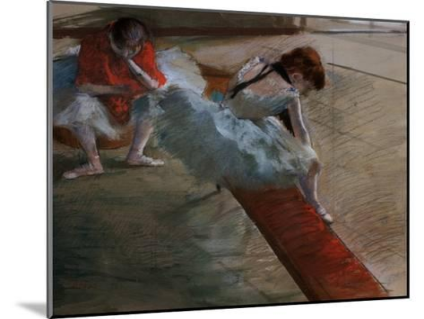Dancers Resting-Edgar Degas-Mounted Giclee Print
