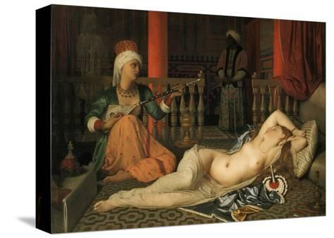 Odalisque with a Slave-Jean-Auguste-Dominique Ingres-Stretched Canvas Print