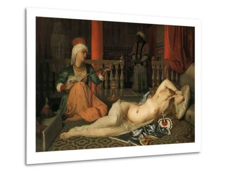 Odalisque with a Slave-Jean-Auguste-Dominique Ingres-Metal Print