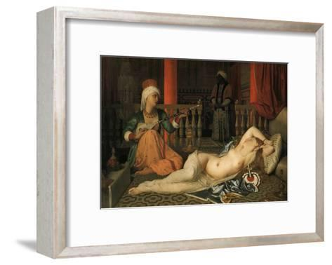 Odalisque with a Slave-Jean-Auguste-Dominique Ingres-Framed Art Print