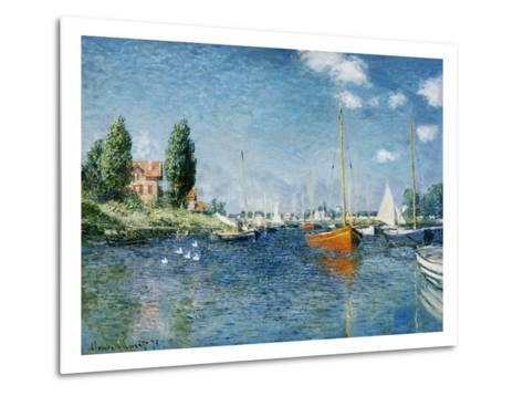 Red Boats, Argenteuil-Claude Monet-Metal Print