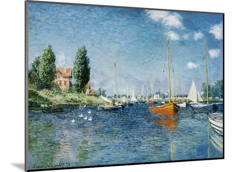 Red Boats, Argenteuil-Claude Monet-Mounted Giclee Print