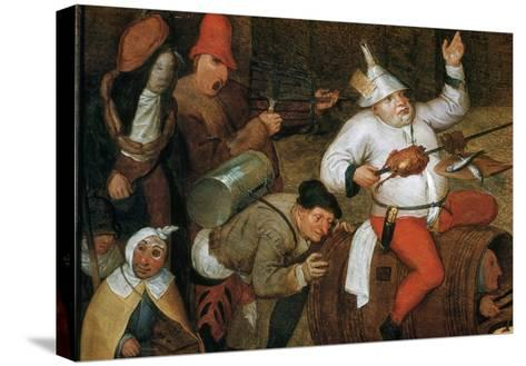 Detail of Combat Between Carnival and Lent-Pieter Bruegel the Elder-Stretched Canvas Print