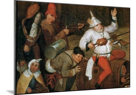 Detail of Combat Between Carnival and Lent-Pieter Bruegel the Elder-Mounted Giclee Print