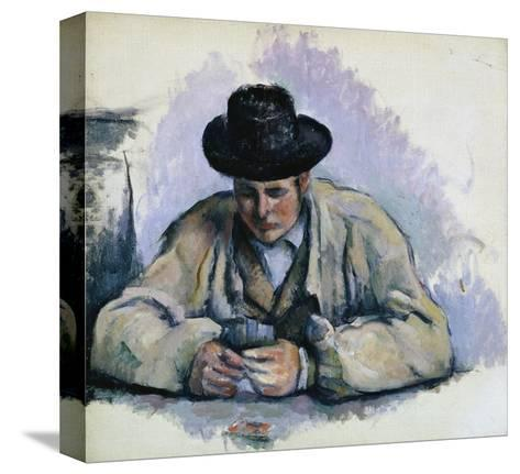 Study for The Cardplayers-Paul C?zanne-Stretched Canvas Print