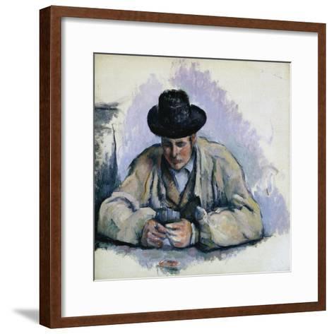 Study for The Cardplayers-Paul C?zanne-Framed Art Print