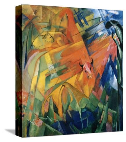 Animals in a Landscape-Franz Marc-Stretched Canvas Print