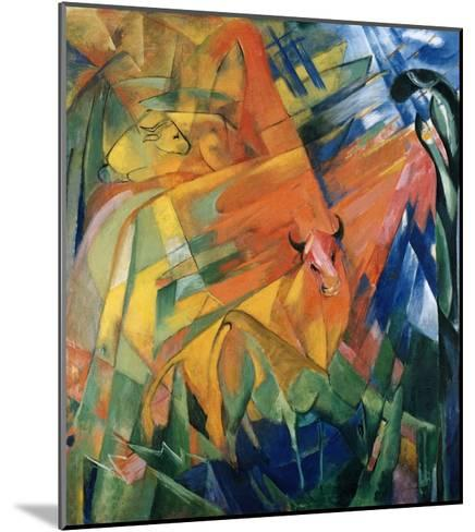 Animals in a Landscape-Franz Marc-Mounted Giclee Print