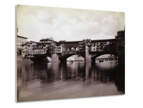 Ponte Vecchio over the River Arno in Florence-Bettmann-Metal Print