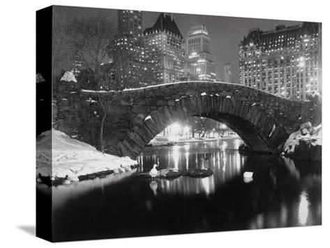 New York Pond in Winter-Bettmann-Stretched Canvas Print