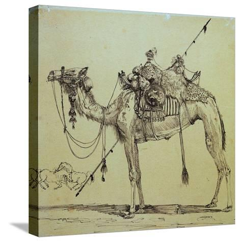 Camel-Rodolphe Bresdin-Stretched Canvas Print