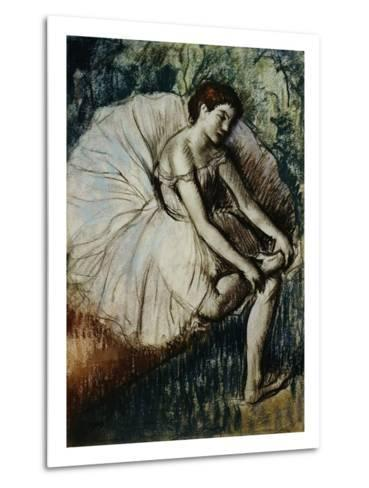 Tired Dancer-Edgar Degas-Metal Print