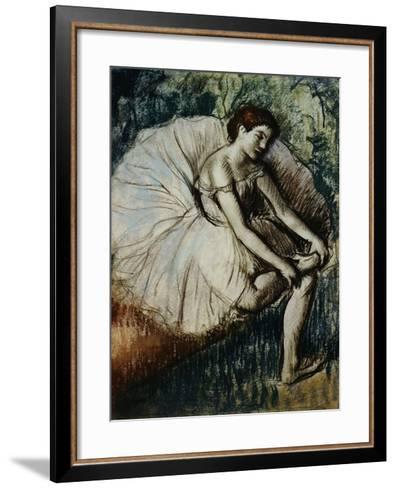 Tired Dancer-Edgar Degas-Framed Art Print