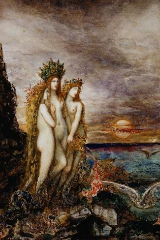 The Sirens-Gustave Moreau-Stretched Canvas Print