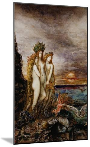 The Sirens-Gustave Moreau-Mounted Giclee Print