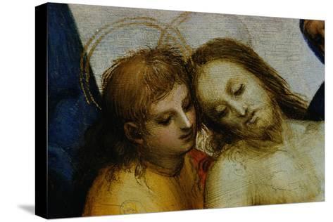 Detail of Jesus and Saint Nicodemus from Pieta-Raphael-Stretched Canvas Print