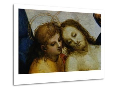 Detail of Jesus and Saint Nicodemus from Pieta-Raphael-Metal Print