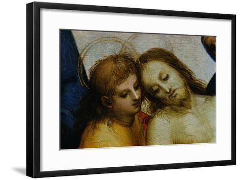 Detail of Jesus and Saint Nicodemus from Pieta-Raphael-Framed Art Print