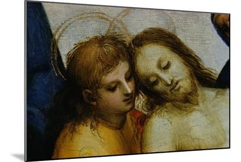 Detail of Jesus and Saint Nicodemus from Pieta-Raphael-Mounted Giclee Print