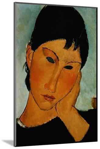 Detail of Female Head from Elvira Resting at a Table-Amedeo Modigliani-Mounted Giclee Print