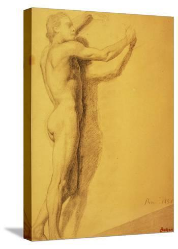 Study of a Male Nude-Edgar Degas-Stretched Canvas Print