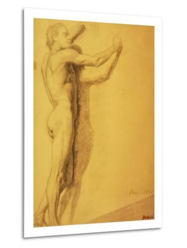 Study of a Male Nude-Edgar Degas-Metal Print