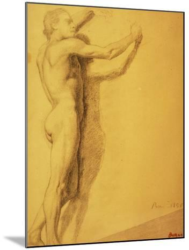 Study of a Male Nude-Edgar Degas-Mounted Giclee Print