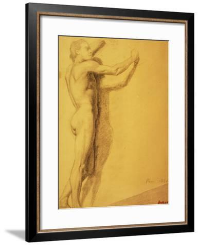 Study of a Male Nude-Edgar Degas-Framed Art Print
