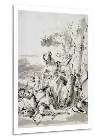Angelica and Medoro-Domenico Tiepolo-Metal Print