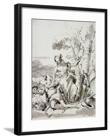 Angelica and Medoro-Domenico Tiepolo-Framed Art Print