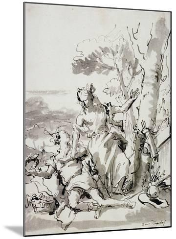 Angelica and Medoro-Domenico Tiepolo-Mounted Giclee Print