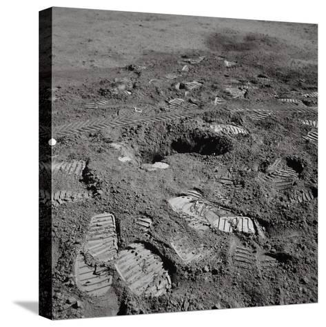 Footprints on the Surface of the Moon--Stretched Canvas Print