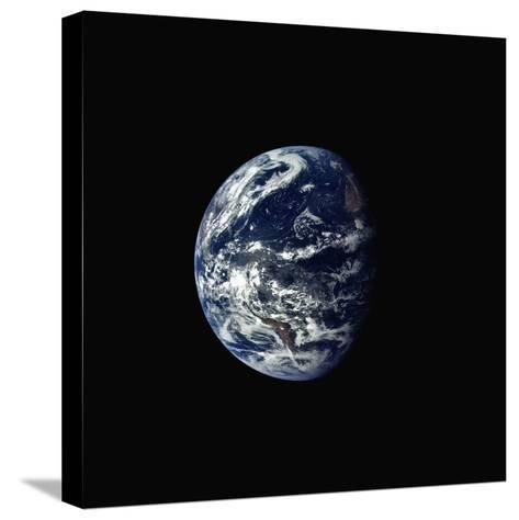 Earth Seen rrom Space--Stretched Canvas Print