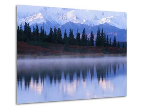 Alaskan Range Reflected in Wonder Lake-Jeff Vanuga-Metal Print