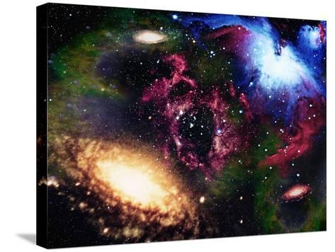 Galaxies and Nebulas of Outer Space-Randall Fung-Stretched Canvas Print
