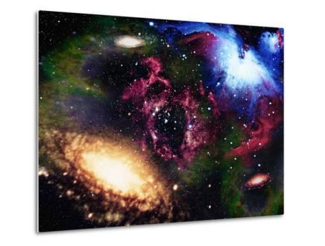 Galaxies and Nebulas of Outer Space-Randall Fung-Metal Print