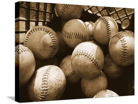 Crate Full of Worn Softballs-Doug Berry-Stretched Canvas Print