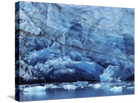 Ice Breaking off Glacier-Mick Roessler-Stretched Canvas Print