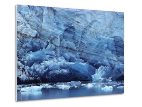 Ice Breaking off Glacier-Mick Roessler-Metal Print