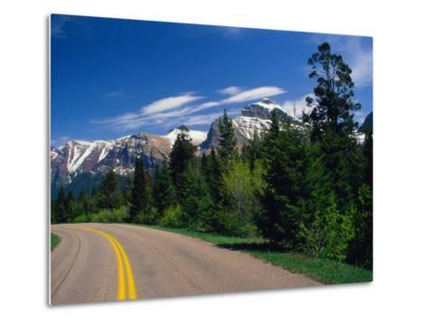 Road Through Glacier National Park-Mick Roessler-Metal Print