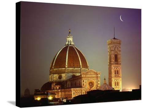 Duomo and Campanile of Santa Maria del Fiore Seen from the West-Jim Zuckerman-Stretched Canvas Print