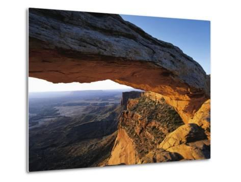 Mesa Arch Framing Landscape-Jim Zuckerman-Metal Print
