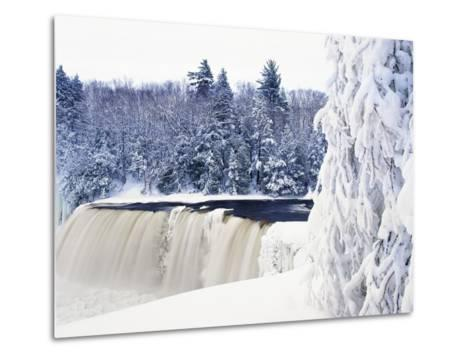 Tahquamenon Falls in Snow-Jim Zuckerman-Metal Print