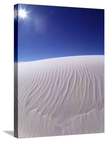 Sun Shining on Desert Sand-Jim Zuckerman-Stretched Canvas Print