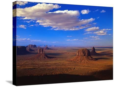 Aerial View of Monument Valley-Joseph Sohm-Stretched Canvas Print